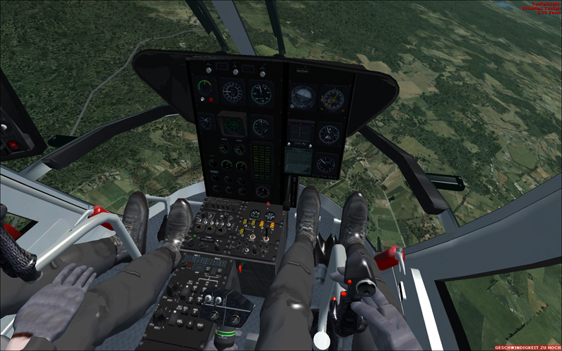 Eurocopter BO-105 Hubschrauber von Dirk Stuck als Freeware für den